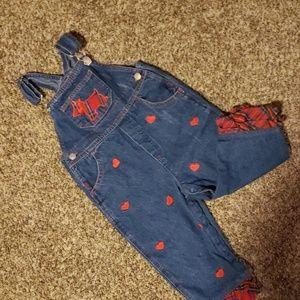3/$12 Scotty dog overalls
